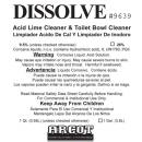 Arcot Dissolve Acid Lime Cleaner & Toilet Bowl Cleaner - Gal